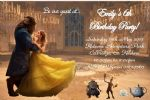 Personalised Beauty and the Beast Movie Invitations